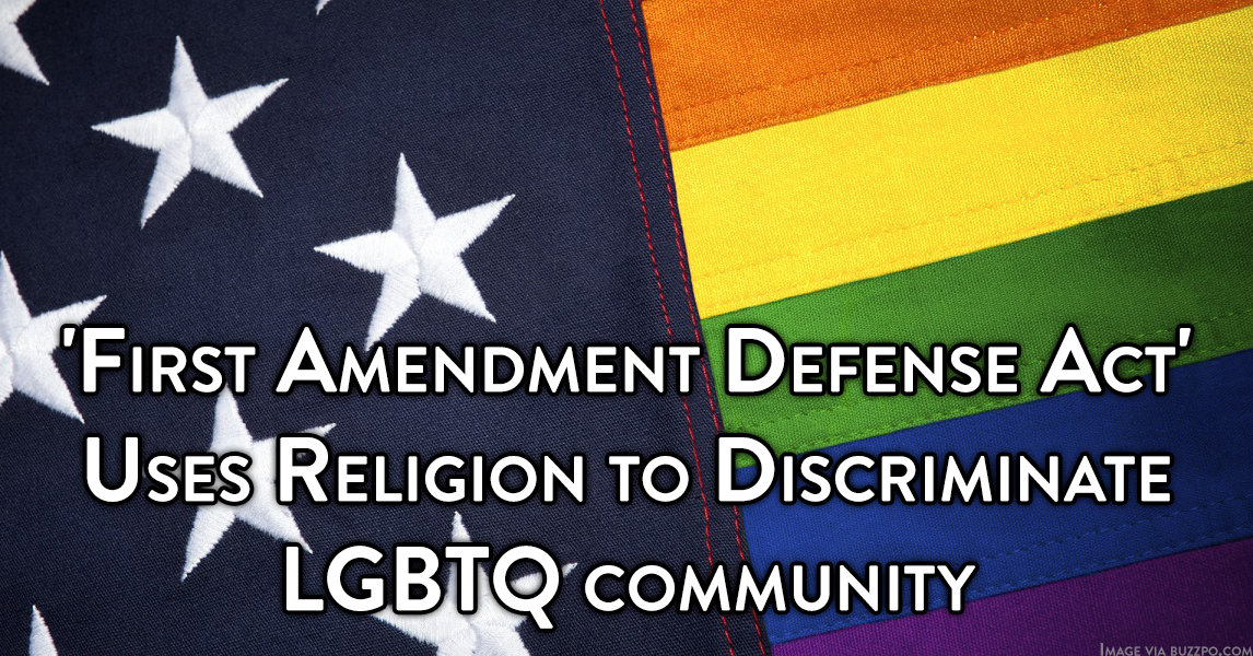 Fist Amendment Defense Act Discrimination