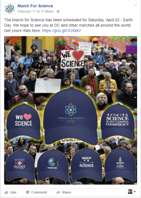March for science fake ad