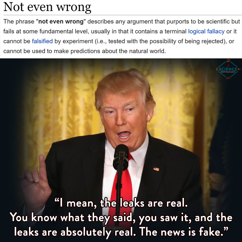 Donald Trump is not even wrong