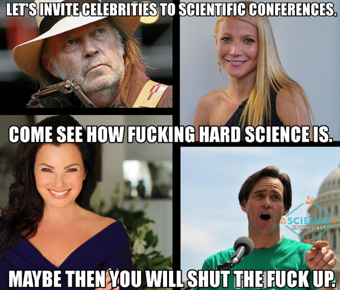 neil young gwenyth paltrow fran drescher jim carrey1 let's invite celebrities to scientific conferences